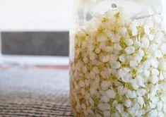 INGREDIENSER * Blommor från ca 60 klasar * 5 dl klar ljus vinäger. Både vitvins- och äppelcidervinäger fungerar bra. GÖR SÅ HÄR: Klipp av alla blommorna från klasarna. Det tar lite tid, men det lönar sig att få bort de gröna växtdelarna eftersom de är väldigt bittra i sma