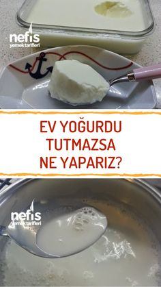Armenian Recipes, Fermented Foods, Yogurt, Pasta, Food And Drink, Pudding, Cheese, Homemade, Cooking