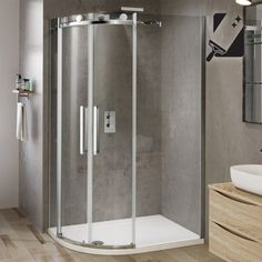 1200mmx800mm Designer Frameless EasyClean Offset Quadrant Shower Enclosure 8mm - soak.com