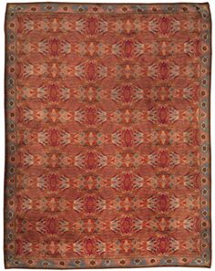 A Swedish Rug BB4997 - A Swedish Pile Rug with exquisitely blended colors reading as cool reds and mauves. An allover modern abstract design within a color ...