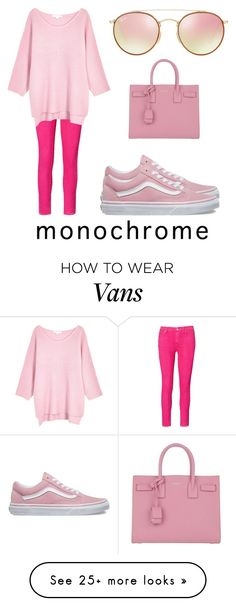 """All pink all day"" by cassie-richardson on Polyvore featuring Ralph Lauren, Duffy, Vans, Yves Saint Laurent and Ray-Ban"