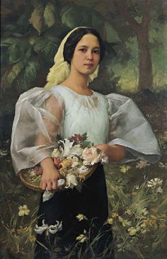 The Best of Filipino Art: Fernando Amorsolo Philippines Dress, Philippines Fashion, Philippines Culture, Filipino Art, Filipino Culture, Cultura Filipina, Philippine Art, Philippine Women, Mahal Kita