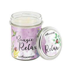 Bougie Relax Bio & Vegan Aromandise Relax, Massage Oil