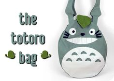 Free Tutorial: A Totoro shaped bag with snap leaf closure sewing pattern #diy