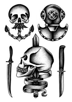 Skull w/ anchor template
