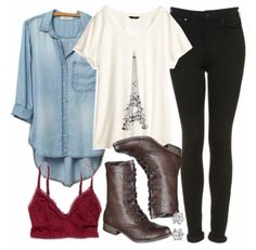 Love this style for fall