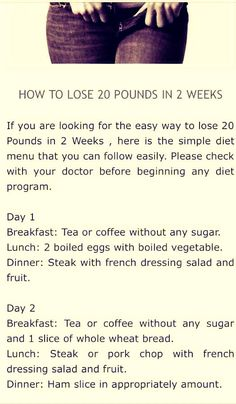 How To Lose 20 Pounds In 2 Weeks !