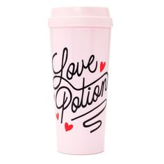 STYLE: love potion we didn't want to leave your hot beverages out in the cold, they deserve some style too! our thermal mugs will keep your tea or coffee totally warm and cozy while you get to look ex