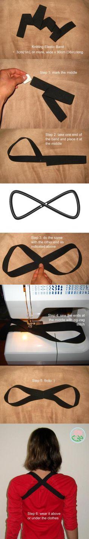 Schouder elastiek voor een goede houding.