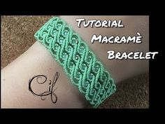 Tutorial Bracciale Macramè Onde - YouTube