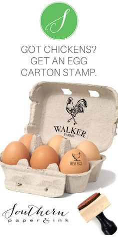 A Rooster Farm Name stamp is a great way to personalize your homestead. There are several customizable sizes for egg cartons, tags and labels. It makes a great gift, especially a hostess gift or housewarming gift. $24.95. Click to add your name.