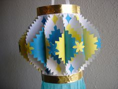 (Update: If you don't want to make the kandil pictured above, but instead want to make the traditional one with the wooden frame, the instructions are here.) As a kid, I frequently made this kind o... Diwali Lantern, Diwali Lamps, Diwali Lights, Diwali Diya, Diwali Craft, Diwali Party, Crafts For Kids, Arts And Crafts, Paper Crafts