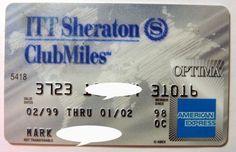 AMEX-Card-American-Express-ITT-Sheraton-Club-Optima-Credit-card-exp-1998