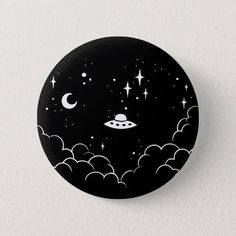 Shop Ufo Pinback Button created by Pijaczaj. Simple Canvas Paintings, Easy Canvas Art, Small Canvas Art, Mini Canvas Art, Cool Paintings, Cd Wall Art, Record Wall Art, Cd Art, Hippie Painting