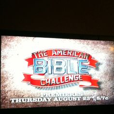 Bible Game Show on Game Show Network!!!!   Can't wait!