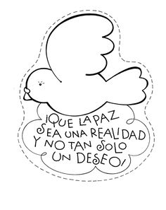 dibujos para colorear, dia de la paz, colorear la paz, actividades dia de la…