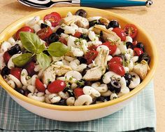 This flavorful Artichoke Pasta Salad is full of healthy ingredients and is perfect for any potluck or party.