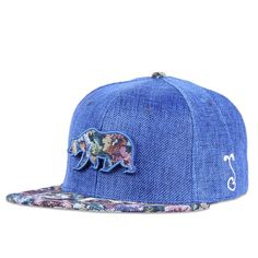 c408b15e91c Removable Bear Navy Thrifty Floral Fitted