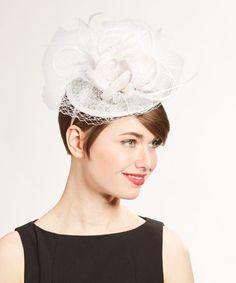 White Mesh Flower Headband #zulily #zulilyfinds
