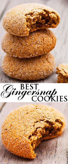 Best GINGERSNAP COOKIES recipe ever. These chewy fat free ginger cookies are spicy with sugary crispy tops. These classic gingersnaps are made with no butter, no shortening, no oil. From cakewhiz.com