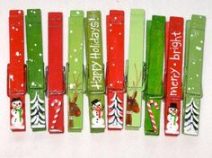 Holiday FUN with Clothes Pins from Crafty Corner