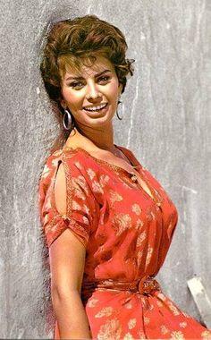 SOPHIA IN A RED DRESS