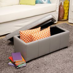 Warehouse Tiffany Ariel Faux Leather Storage Bench - Overstock™ Shopping - $89 can arrive by xmas