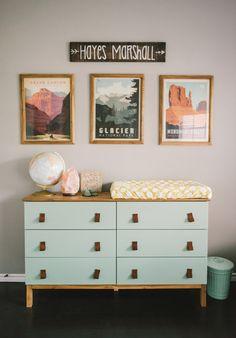 Jordan Dunaway - Hayes room commode à langer - décorer une chambre d enfants - émoi émoi