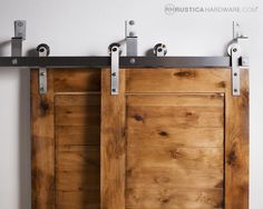 Article On Sliding Door. Describing Sliding Bypass Barn Door Hardware Design Ideas With Pictures Give Inspiration For Door. Find Sliding Bypass Barn Door Hardware And Anything About Garage Door, Glass Door, Sliding Door Here Asanty. Barn Door Closet, Barn Door Track, Diy Barn Door, Hallway Closet, Front Hallway, Bypass Barn Door Hardware, Gate Hardware, Double Sliding Barn Doors, Solid Doors