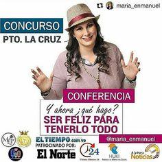 #Repost @maria_enmanuel with @repostapp  Ahora si que mis productores están al rojo vivo... iniciamos con éste detalle especial de @ltproduccionesca  Y ahora que hago? #12AccionesparaLograrlo #SerFelizParaLograrloTodo  #Concurso es muy #Fácil  1-  Sigue a @maria_enmanuel Y @ltproduccionesca  2- Comparte esta imagen Menciona a 5 amigos seguido del #SerFelizLoEsTodo  Participas por dos pases a esta conferencia en #PuertoLaCruz pautada para el próximo 18 de #Marzo en el Auditorio Jesús Marquez…