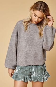 MinkPink Blouson Sleeve Sweater