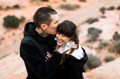 moab mountain + desert engagement session // utah adventure wedding photographer // www.abbihearne.com