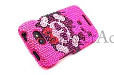 Click Image to Browse: $8.95 Pink Skull Bling Rhinestones Hard Case Cover For HTC One S