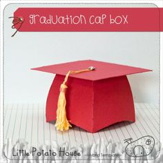 Graduation Cap Box template