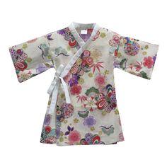 Akemi あけみ Japanese Kimono Wrap Dress for Girls Baby Kimono, Kimono Fabric, Kimono Dress, Kimono Sewing Pattern, Sewing Patterns Girls, Baby Sewing, Free Sewing, Diy Dress, Wrap Dress