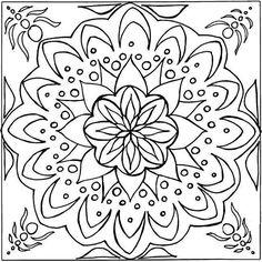 coloriage 17 dessin Mandala