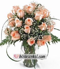 Vazoda 21 Somon Gül  Hızlı Çiçek Al ile sevdiklerinize aynı gün teslimat seçeneği ile cam vazo içinde 21 adet somon güller sipariş edin.  http://www.hizlicicekal.com/cicekler/cicekciler/cicek/63/vazoda-21-somon-gul/