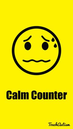 couldn't we all use a calm counter? ways to help a child calm down when they are angry or anxious. #touchautism #autismapps #autismapp