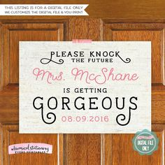 Wedding Signs - Bridal Dressing Room Sign 2  Let the groom - and everyone else! - know that this bride is getting gorgeous before the