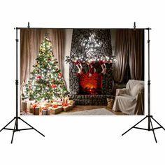8x6ft Christmas Christmas Tree Sofa Curtain Carpet Happy New Year Birthday Party Wallpaper Studio Wedding Cloth Family Portrait Cloth Vinyl