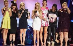 Pitch Perfect cast accepts the Best Musical Moment award MTV movie awards