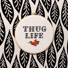Thug Life Cross Stitch PATTERN by ModernGrandma on Etsy