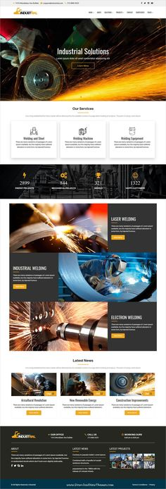 Industrial is clean and modern design 6in1 responsive #HTML bootstrap template for #industrial and #factory solutions website to live preview & download click on Visit