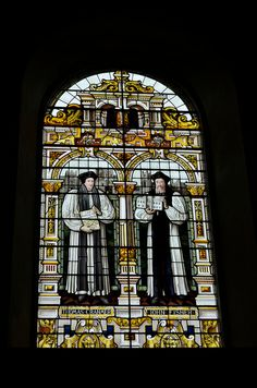 Stained Glass Window depicting Thomas Cranmer and John Fisher at Emmanuel Chapel, Cambridge, UK | via Flickr - Photo Sharing!