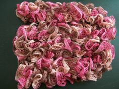 Pink Sashay Scarf, Knitted, Ruffle, Fashion