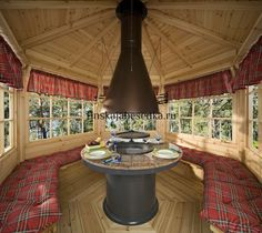 Grill Gazebo, Gazebo Pergola, Backyard Greenhouse, Outdoor Fire, Outdoor Living, Bbq Hut, Fireplace Set, Patio Interior, Garden Office