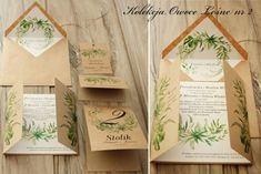 Zaproszenia ślubne Owoce Leśne - ekologiczne kwiatowe Amelia Wedding