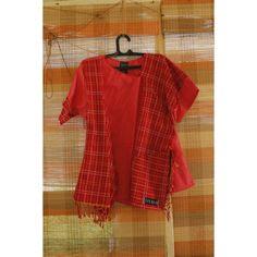 Red is the ultimate cure for sadness.. Atasan tenun Baduy Mix Lurik Gerimis Merah berani Bisa ditali atau enggak LD 100cm IDR 199.900 Grab it. Ladies.  Only one.  #pengrajinbaduy #fkugm #fkundip #fkui #expalife #tenunbaduy #atasanbaduy #baduyluar #jfw #fashionchamber #indonesiaheritage #tenunindonesia
