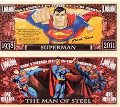 Superman II Million Dollar Novelty Money