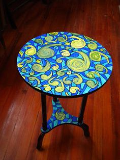 Painted Table Art Follow me on Facebook Kathleen McQueen Wright ~Artist Studio